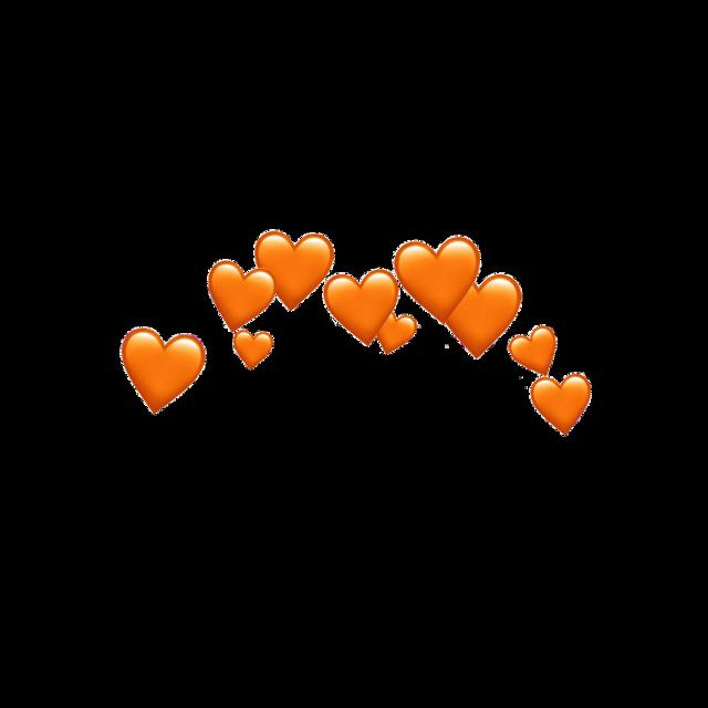 #orange #heart #hearts #tumblr #crown #sinemyildiz #stickers #emoji #heartorange #iphoneemoji #emojis #love #picsart