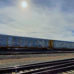 train railroad outandabout sun sky freetoedit