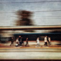 people urban city blurry