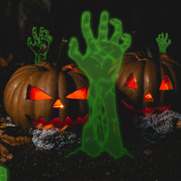 freetoedit halloween zombie pumpkin background