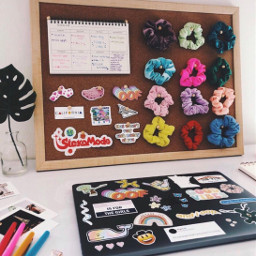 freetoedit scrunchies stickers vsco desk schedule