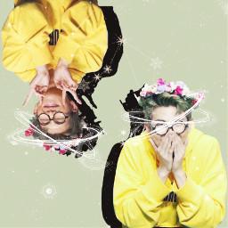 kimnamjoon lightgreen flowercrown freetoedit