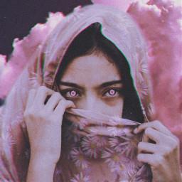 freetoedit pink pinkaesthetic scarf girl