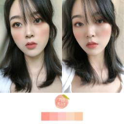 freetoedit makeup motd peach🍑 pink