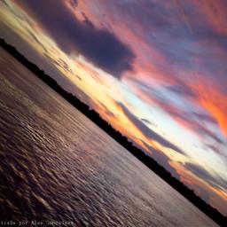 photographynature skyline river beutifulplace twilight freetoedit