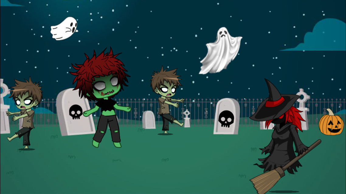 #gachalife  #challenge #picsart Scary Graveyard  #ecgachalifehalloweenoc #gachalifehalloweenoc #freetoedit
