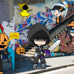 freetoedit streetfighters halloweenfun ecgachalifehalloweenoc gachalifehalloweenoc