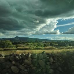 freetoedit nubes atardecer campo foto