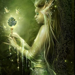 freetoedit fantasy green elf lighf srcniche