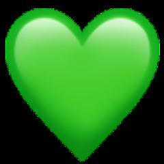 freetoedit green heart emoji iphone