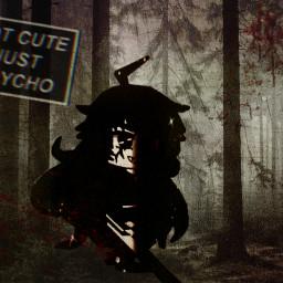 freetoedit halloween scary creepy psycho
