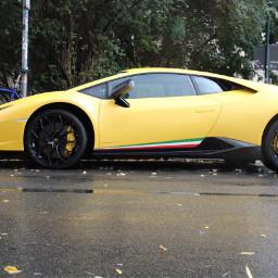 lamborghini car auto leipzig yellow