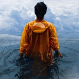 man cloud clouds water freetoedit