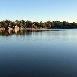 reflection fallcolors pond freetoedit