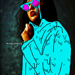 freetoedit woman drawingtool grime colorful