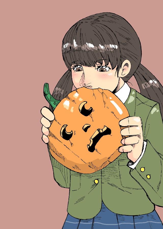 🎃🍽️ #freetoedit #drawing #girl #Halloween #pumpkin
