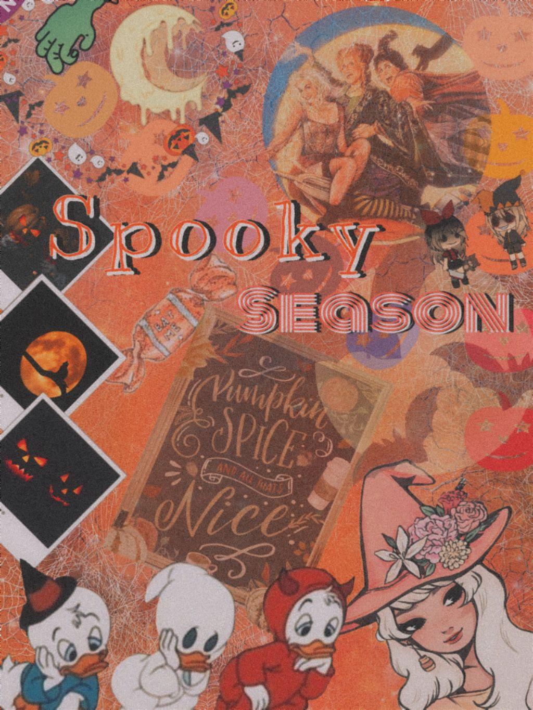 retro aesthetic vintage halloween wallpaper scary scar...