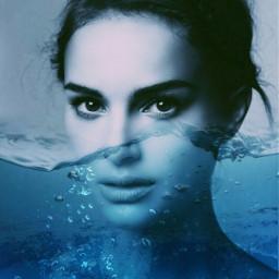 freetoedit girl water blue beauty