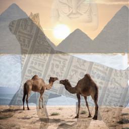 freetoedit remix water sand pyramids