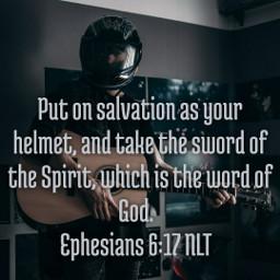 salvation holyspirit wordofgod helmet sword
