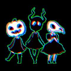 ghost glitch halloween freetoedit