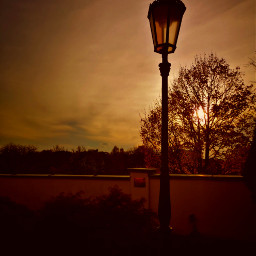 lamp twilight sunset colorful warmcolor