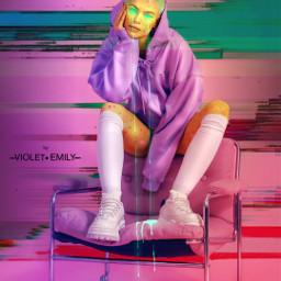 freetoedit holographic mascara neon grime