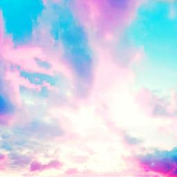 kawaii cute sky pink blue freetoedit