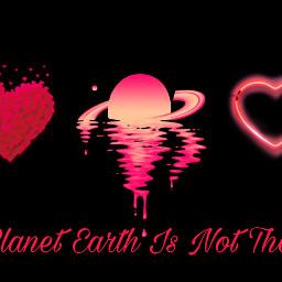 freetoedit planet saturn heart corazon