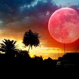 sunset sunrise sky skyline picsart freetoedit