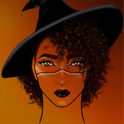 halloween witch lineart fall drawing dcwitchy freetoedit