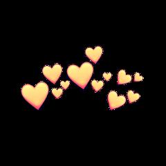 freetoedit freetoeditremix heart orange heartcrown