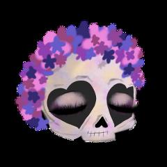 gacha gachalife halloween mask skull freetoedit