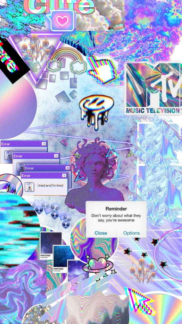 #freetoedit #vaporwave #holographic #neon #wallpaper #woman #aesthetic