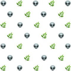 freetoedit alien grass emoji background