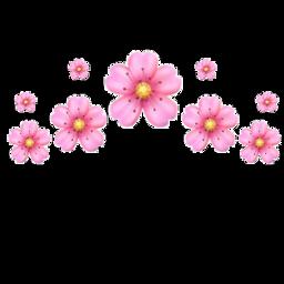 crown emoji flower cherry emojicrown freetoedit