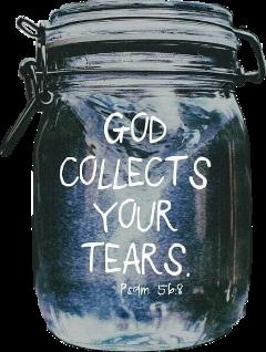 masonjar lid god tears bibleverse freetoedit