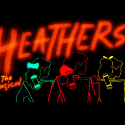heathersthemusical heathers scrunchie red green