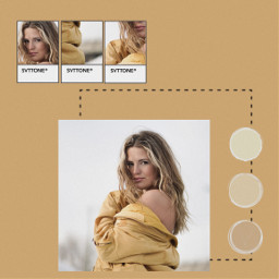 freetoedit yellow circles jacket pantone