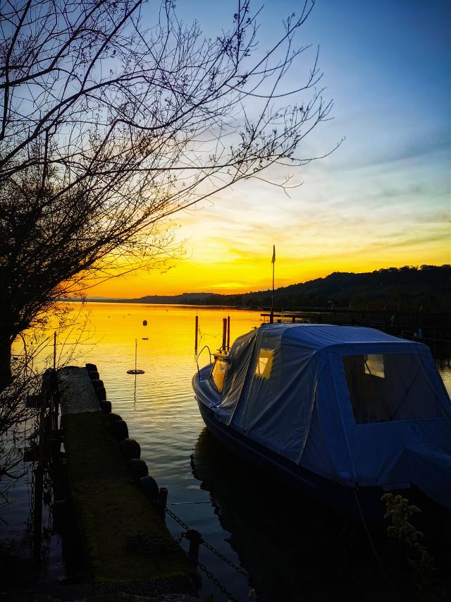 #lake#barco#pordosol