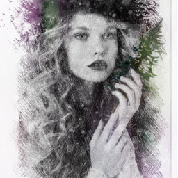 freetoedit remix portrait pinetrees masks