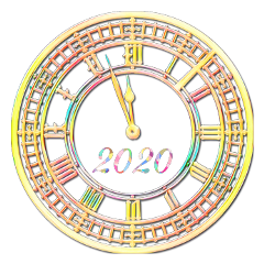 2020 newyearseve clock midnight countdown freetoedit