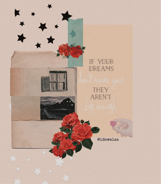 If yout dreams don't scare you, they are not big enough. ✨  -  #aesthetic #aestheticedit #vintage #vintagecollage #vintageeffect #collage #collageart #quote #scrapbook #scrapbooking #picsart #noiseeffect #freetoedit
