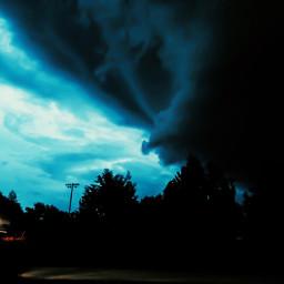 freetoedit sky sunset twister tornado pcbluehour