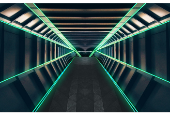 background road tunnel neon green freetoedit