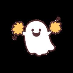 ghost spooky halloween sticker happy freetoedit