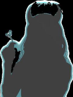 freetoedit silhouette devil girl halloween