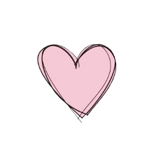 heart pink lines black freetoedit