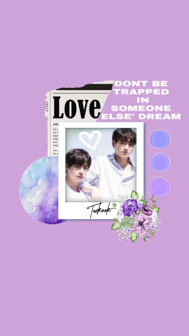 DONT BE TRAPPED IN SOMEONE ELSE' DREAM #TAEKOOK #PURPLE #PASTEL #AESTHETIC