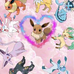 freetoedit pokemon eeveeloutions eevee flareon
